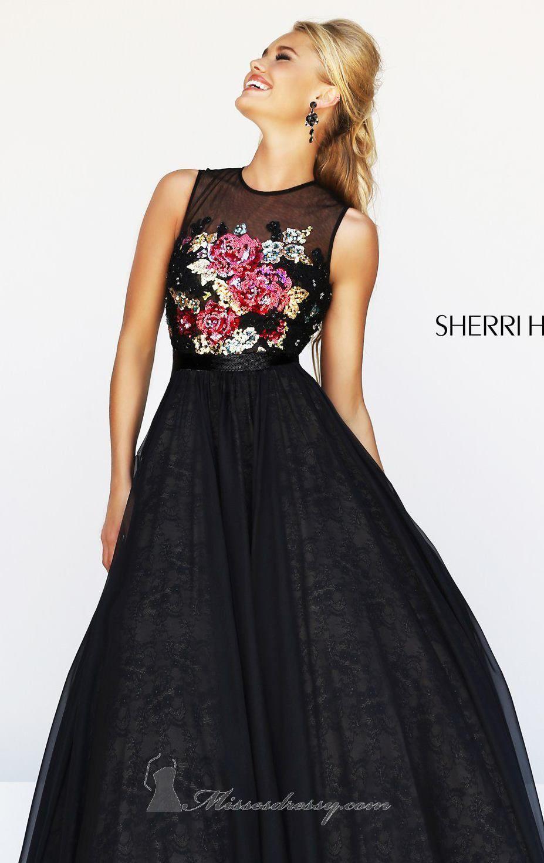 Sherri hill by sherri hill twist of black dress pinterest