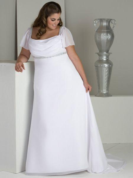vestido de novia talla grande corte imperio | v e s t i d o s