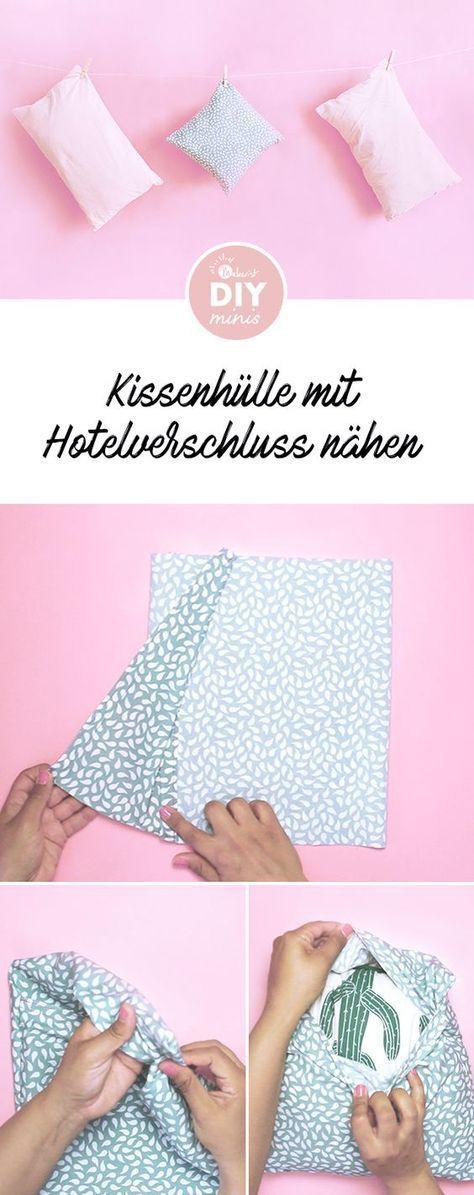 Photo of Kissenhülle mit Hotelverschluss nähen – kostenlose Nähanleitung v
