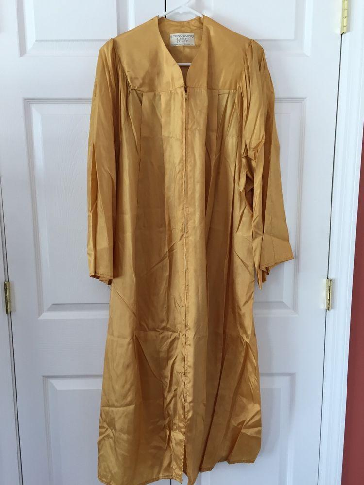Vintage Gold Graduation Gown Choir Robe Halloween Costume Oak Hall ...