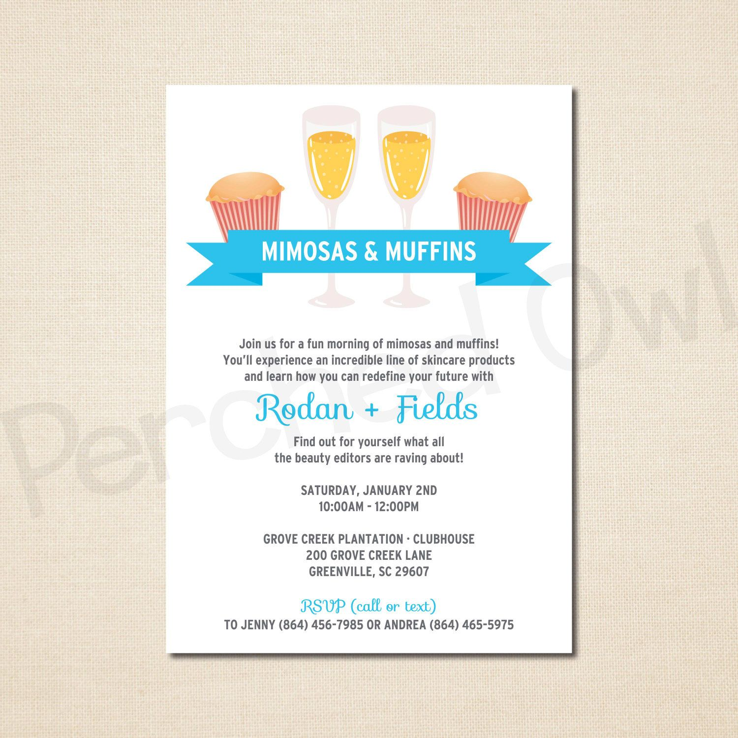 Mimosas & Muffins Invitation - Direct Selling - Business Launch ...