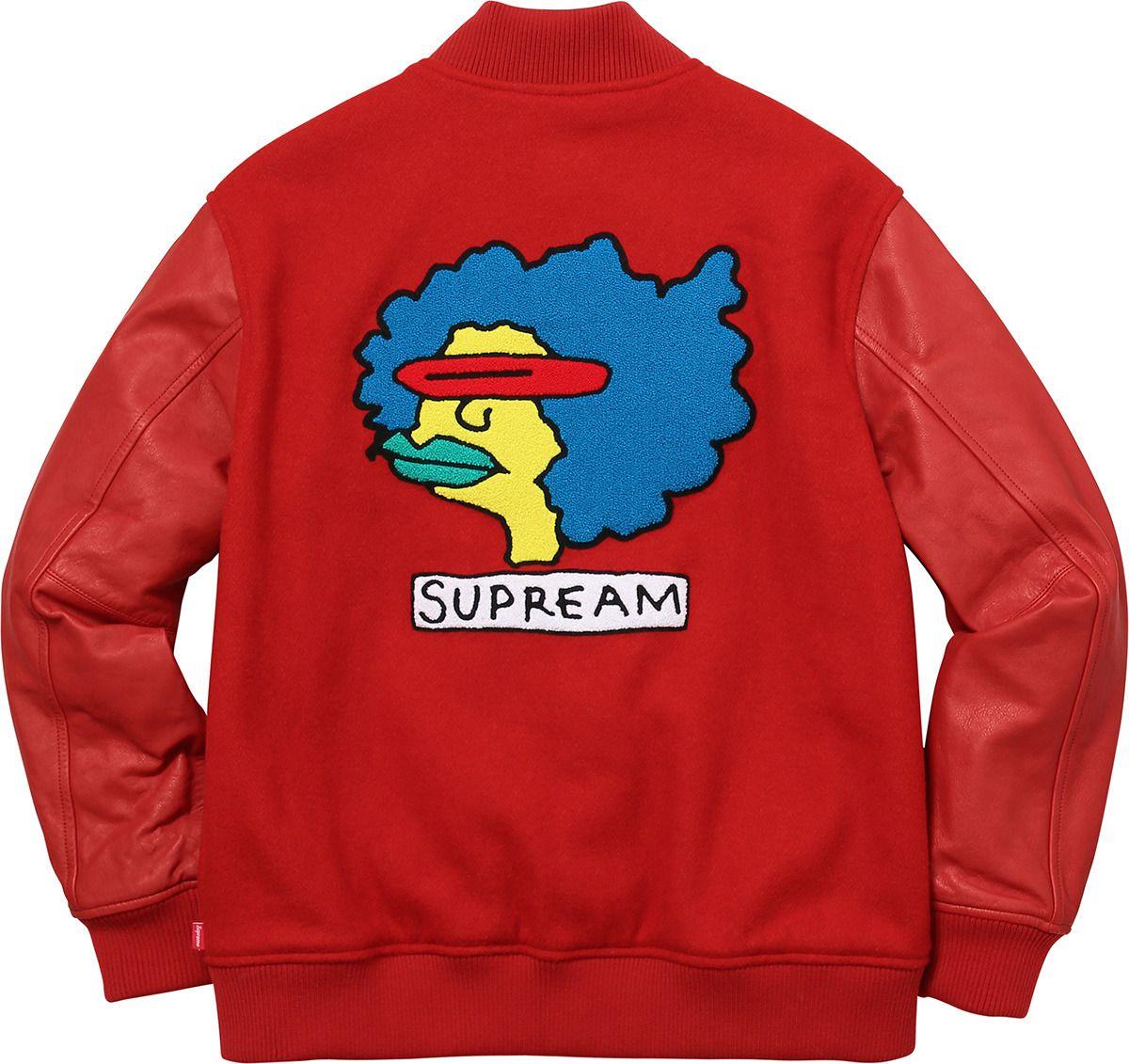 6e66a864fa5df Crisp Culture — Supreme x Mark Gonzales Varsity Jacket