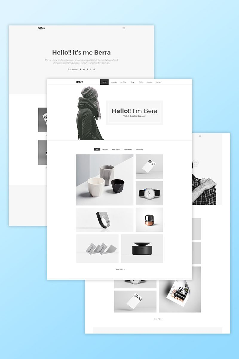 Web Graphic Designer Portfolio Website Template Themes Business Responsive Website Portfolio Website Template Portfolio Web Design Business Web Design