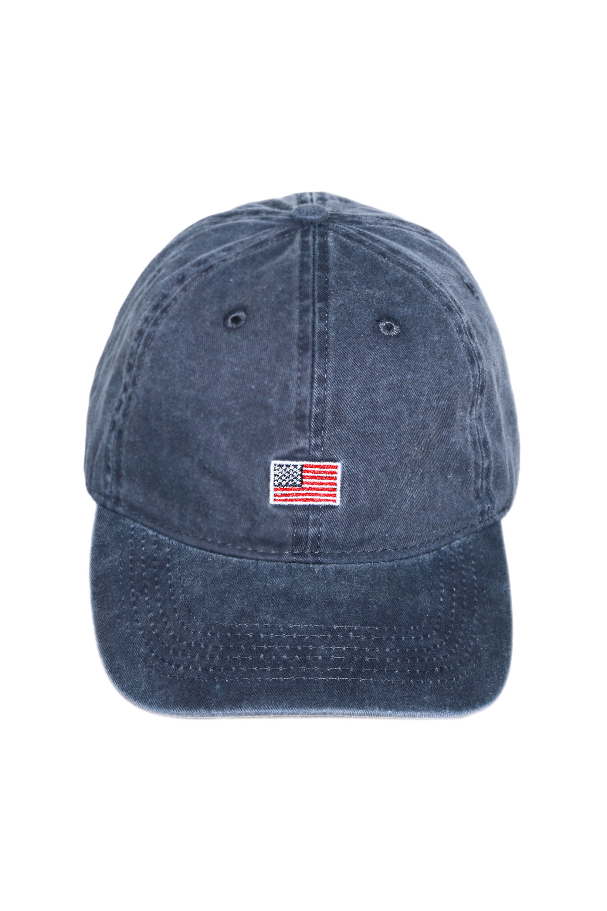 A tiny American flag on a dad hat  How friggin trendy are we