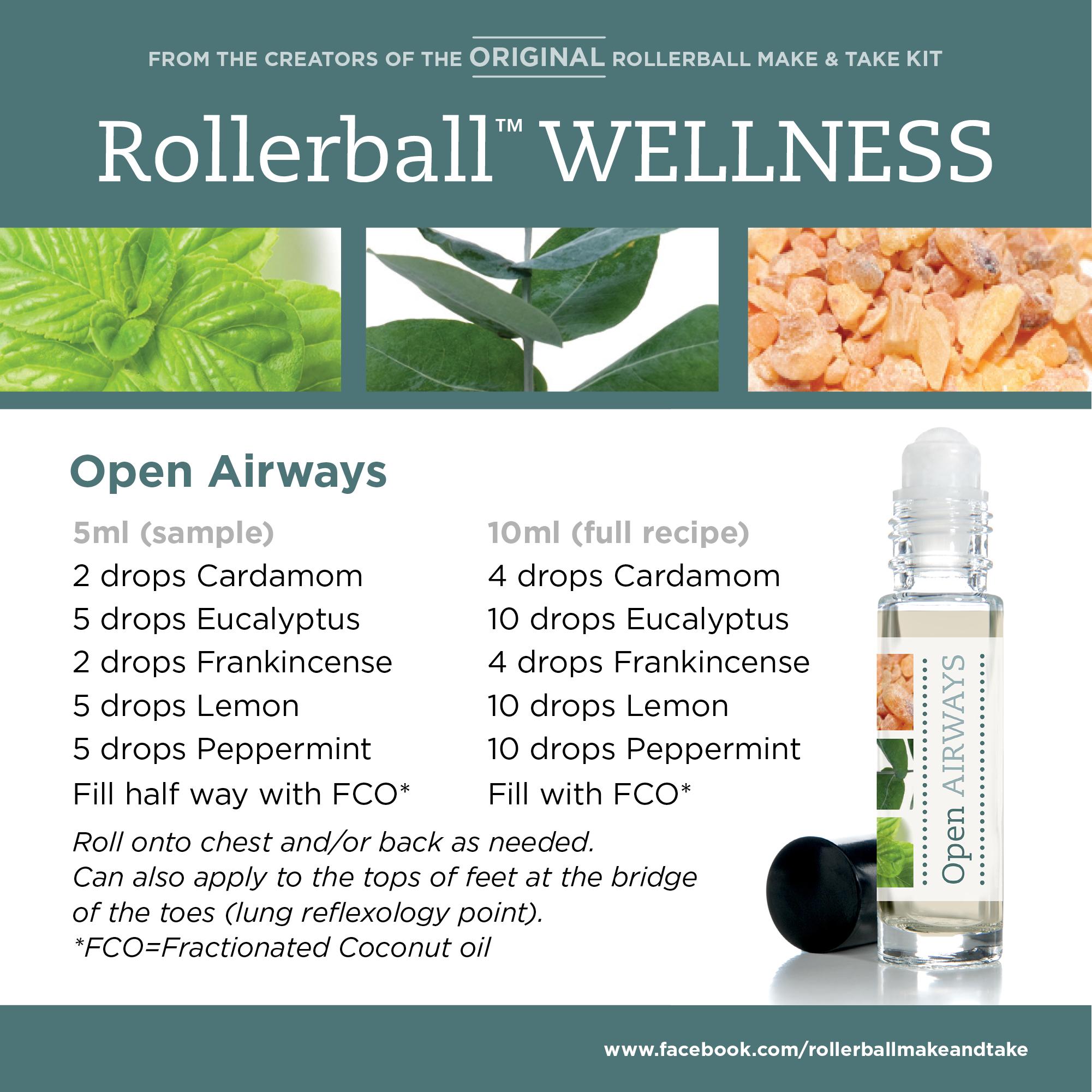 Open Airways Rollerball WELLNESS Make & Take
