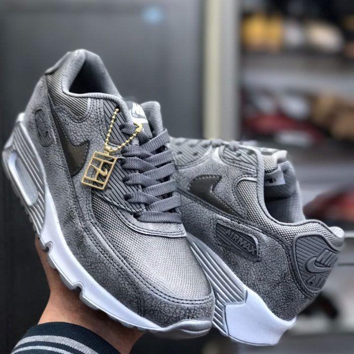 Nike Air Max Erkekler Eğitmenler Ayakkabı Cute Siyah Beyaz Gri Yeni Gelen