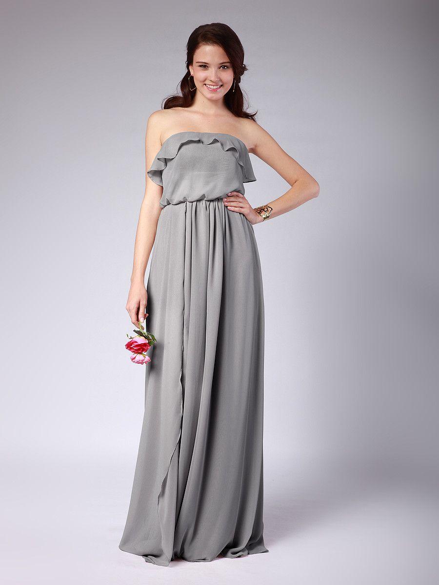 Convertible Chiffon Column Bridesmaid Dress / Jess, these seem like something you'd pick out! :)