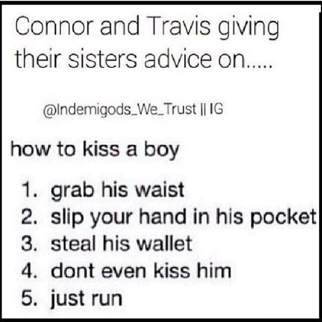 Just run. Best advice a brother can give his sister.