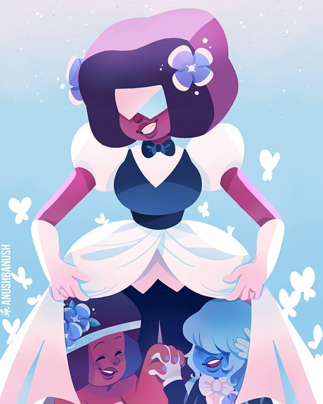 Made Of Love Credit Anushbanush Stevenuniverse Fanart Garnetsu Amet Steven Universe Wallpaper Sapphire Steven Universe Steven Universe Gem