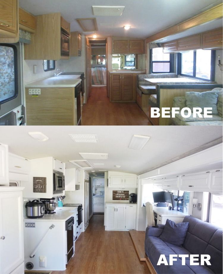 Our Rv Renovation Hudson And Emily Diy Camper Remodel Rv Renovations Remodeled Campers