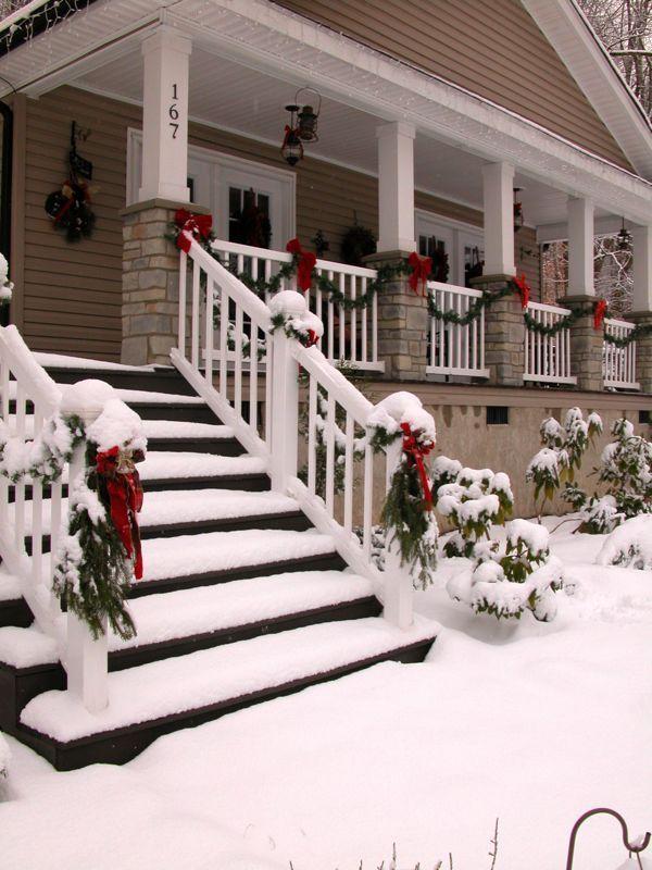 38++ Front porch railing christmas decorating ideas ideas