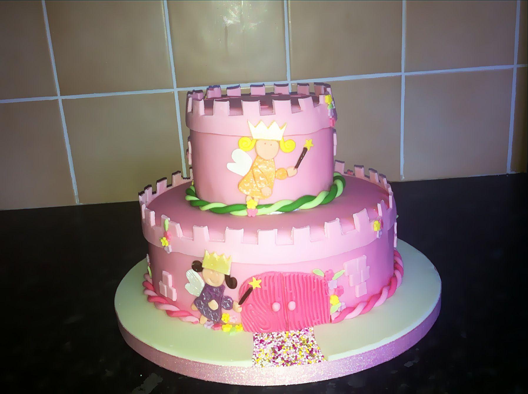 Fairy princess 2 tier cake