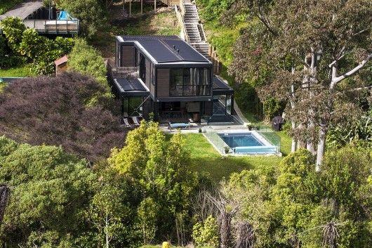 Bassett Road Box Living Beach House Design Architecture Architecture House