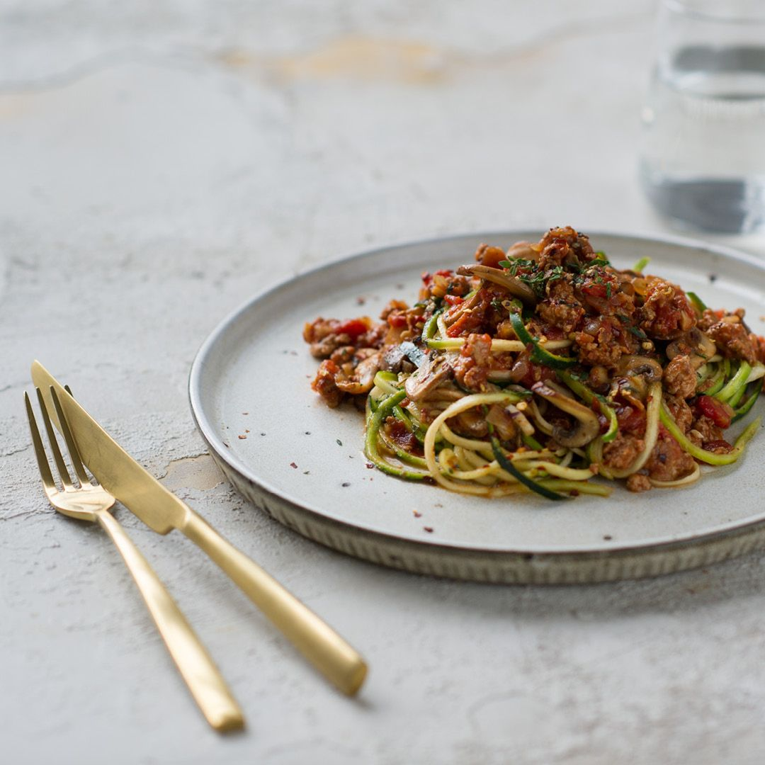 Turkey mince and mushroom zoodles! Download your FREE ...