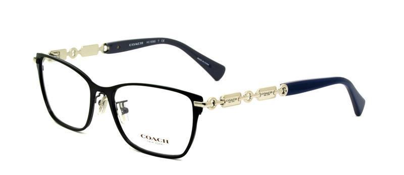 9a92157a0c0 COACH Frames Metal Women Eyeglasses HC 5065 9214 Navy Blue Grey 51mm Square   Coach
