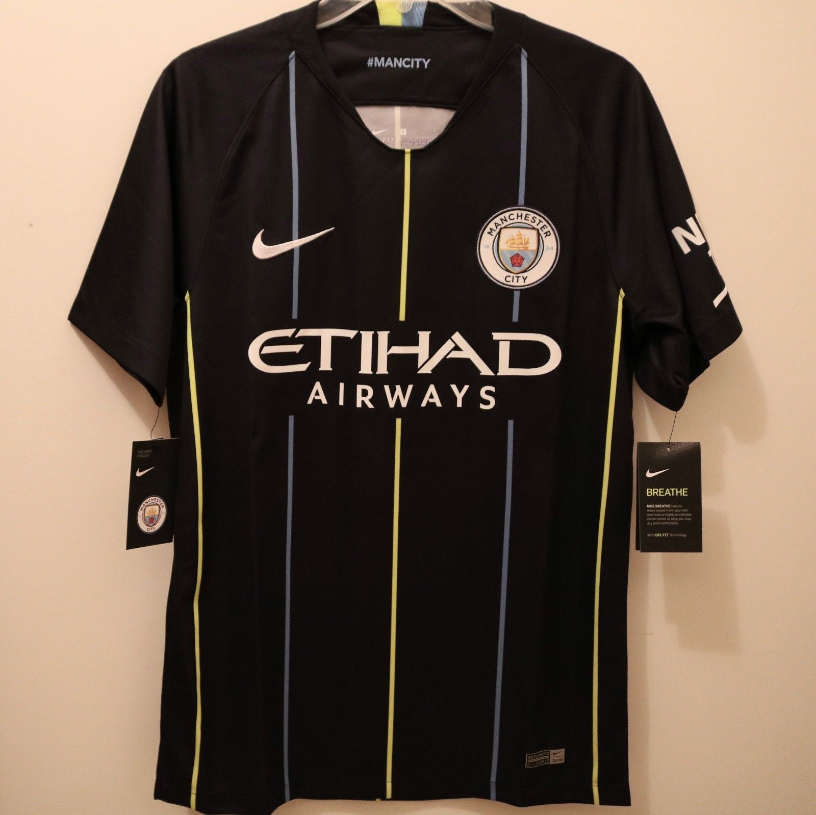 Nike Manchester City Official 2018 2019 Away Soccer Football Jersey (eBay  Link) 6f8128705