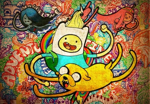 Adventure Time Background Free download.