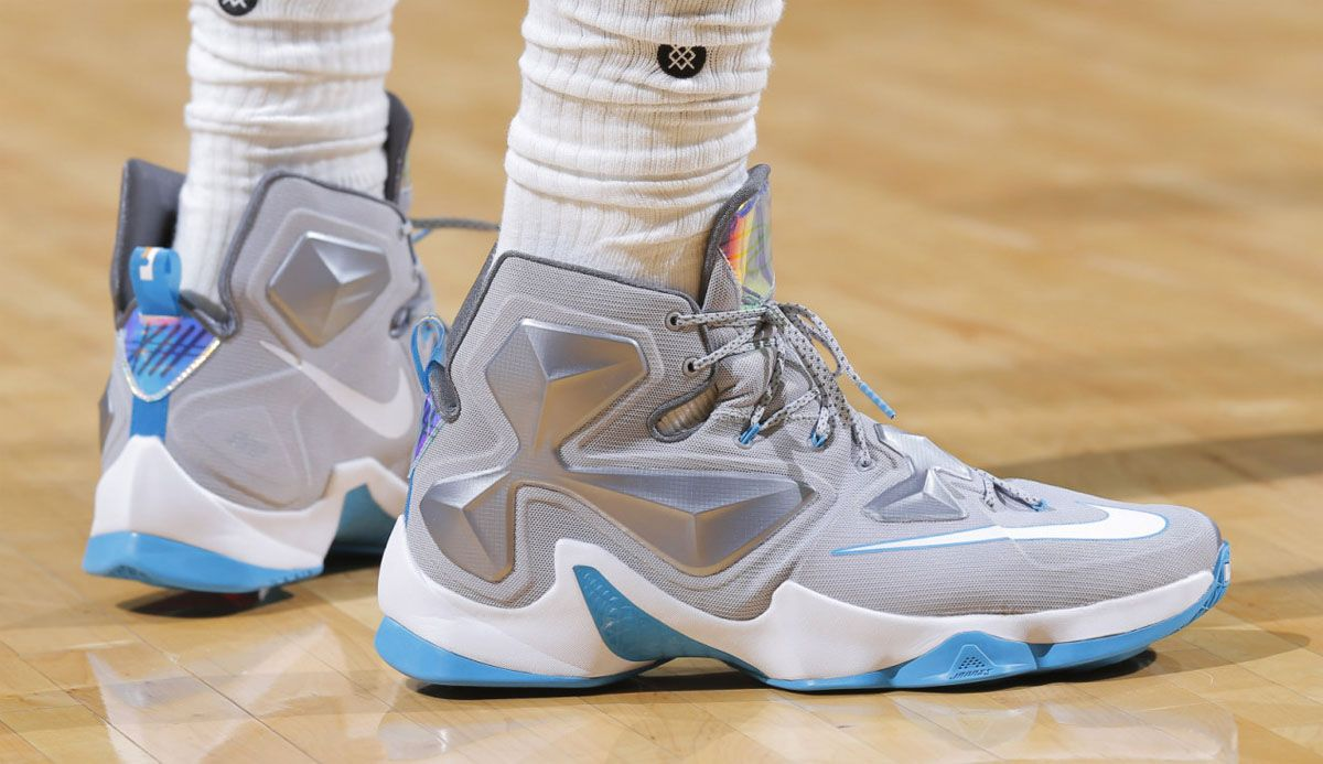 0e484642deb9  SoleWatch  LeBron James Ditched His Old Sneakers for a New Nike LeBron 13  Last Night