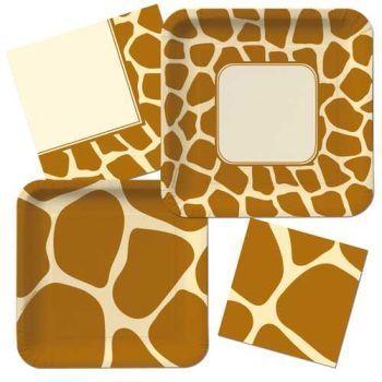 Animal Print Giraffe - Party at Lewis Elegant Party Supplies ...