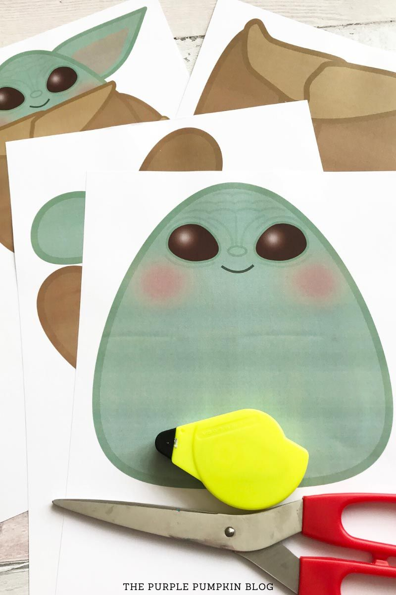 build a baby yoda free printable  paper baby yoda