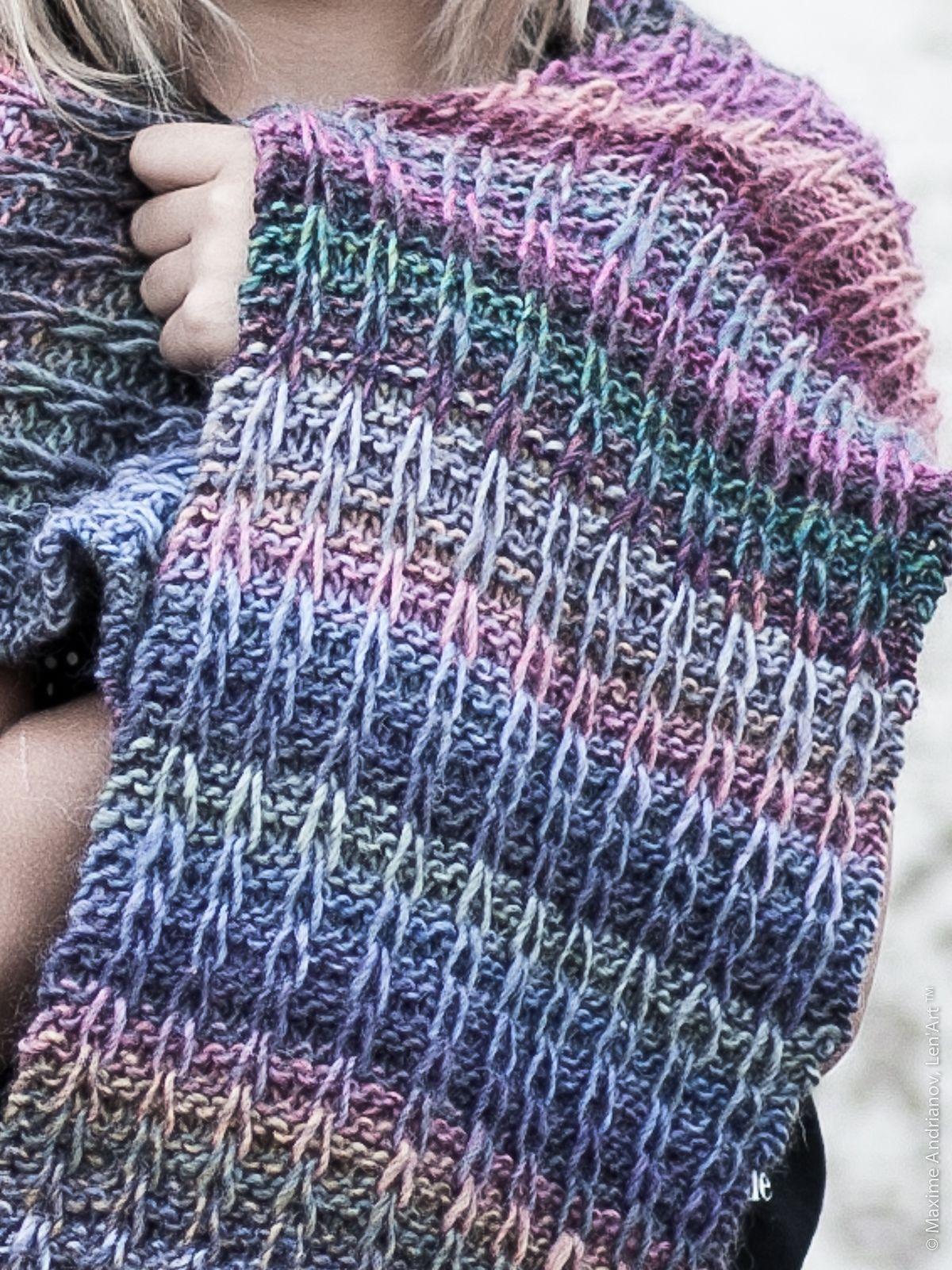 Tuto tricot  écharpe mailles glissées.   Tutos Tricot sur