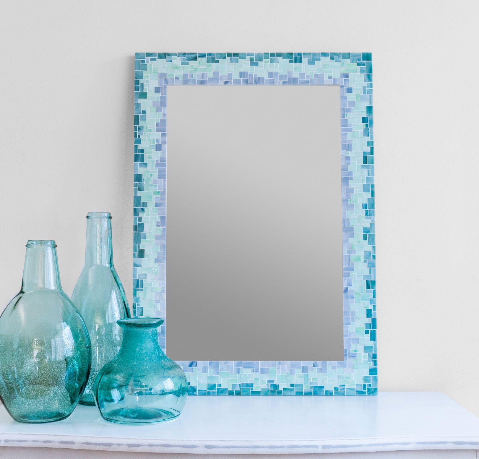 Mosaic Bathroom Mirror For Beach House Decor By Live In