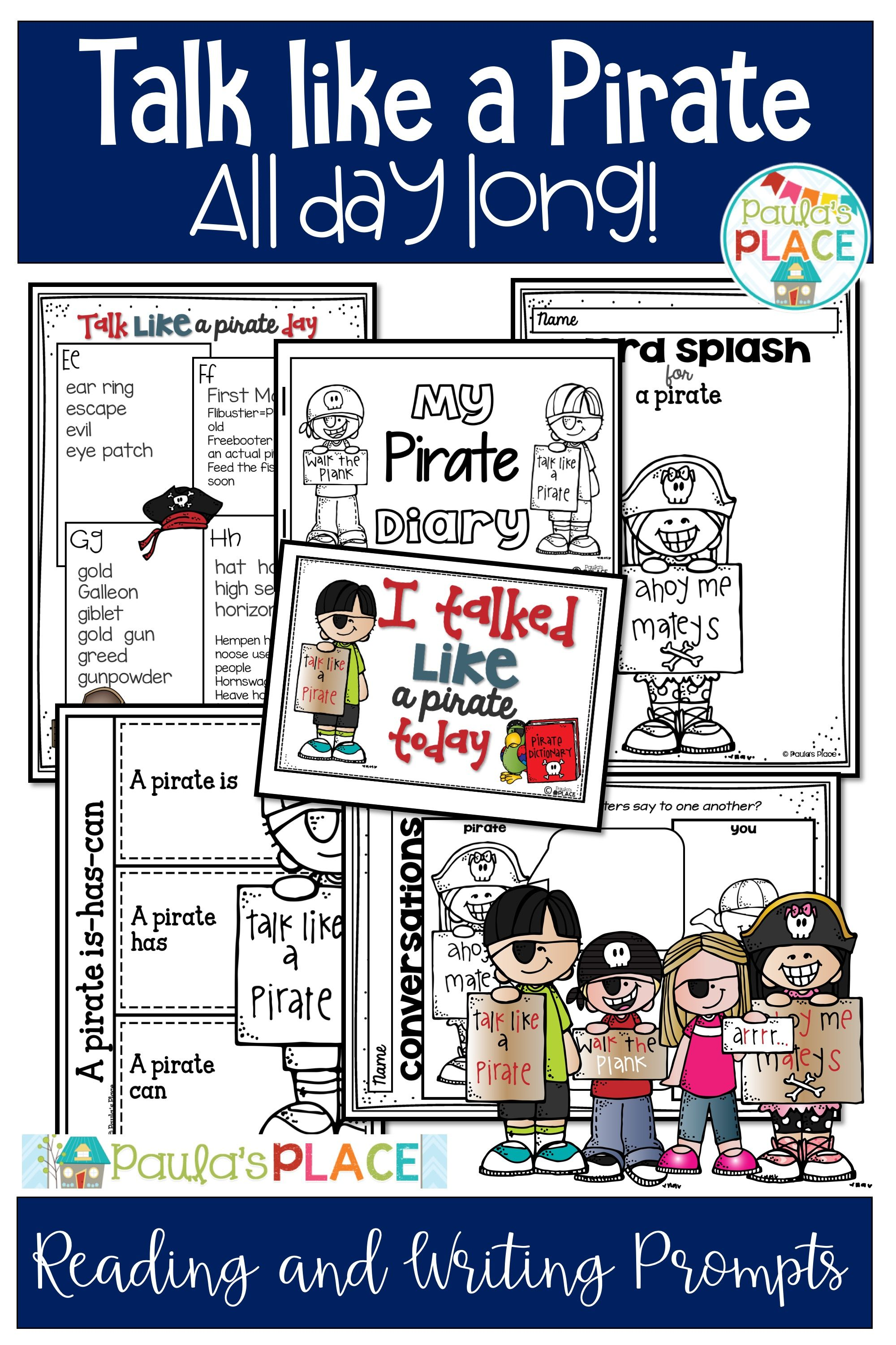 Talk Like A Pirate Day Activities And Worksheets With