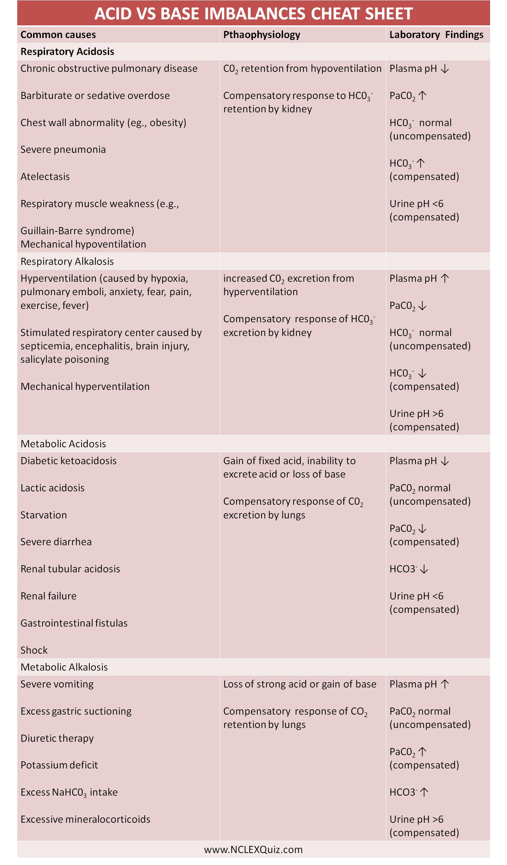 Lab Values Worksheet Nursing