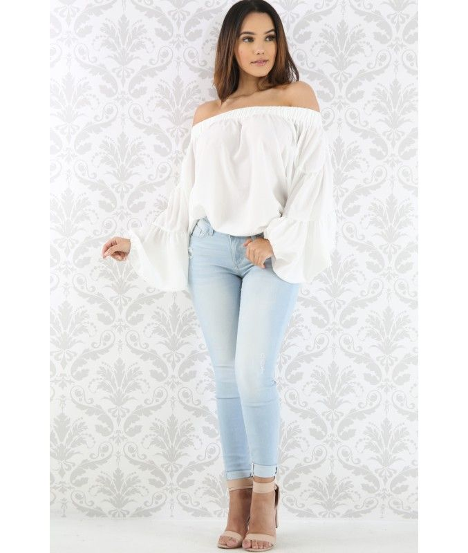 Light Wash Skinny Jeans - Luxe Aloure