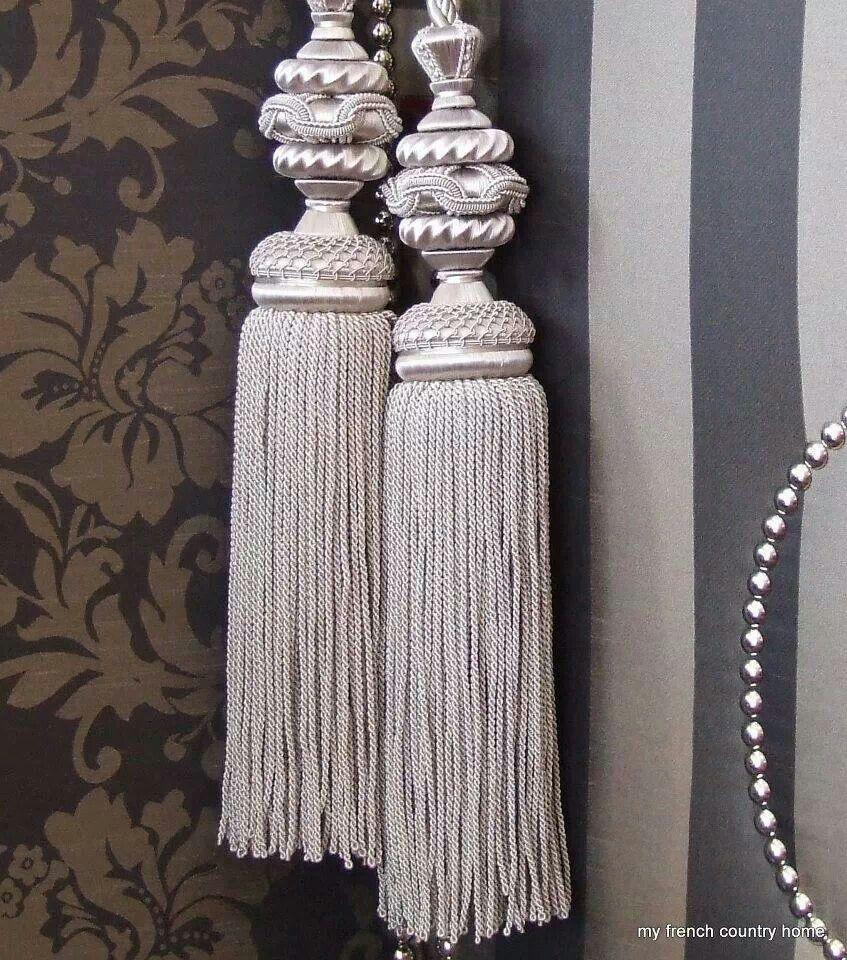 Pequenos detalhes pompones pinterest cortinas - Lazos para cortinas ...