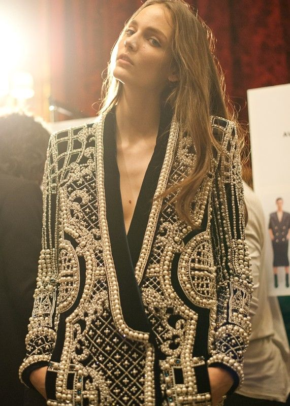 Balmain fall 2012 rtw backstage #cpourl