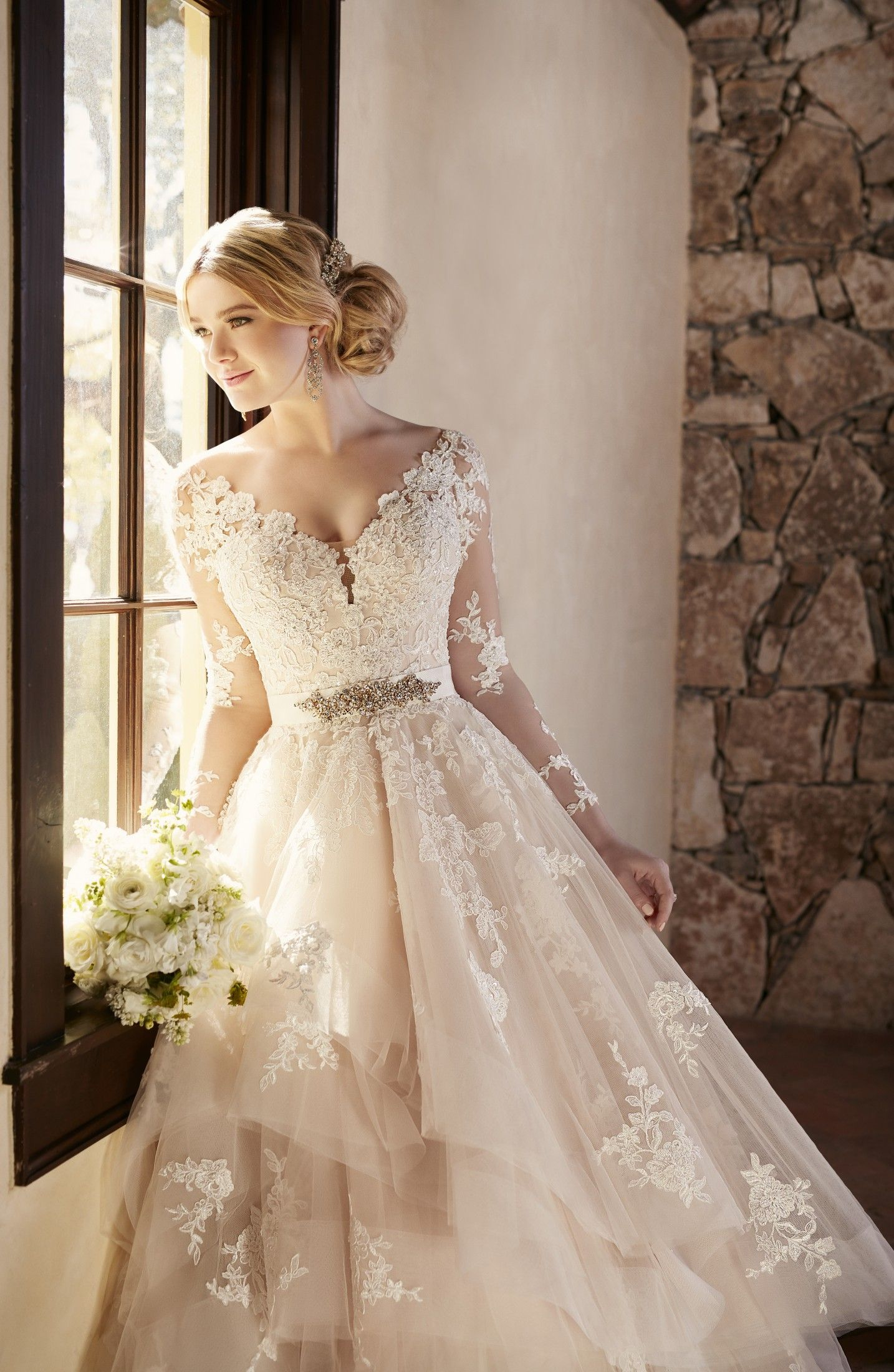 Silver wedding dresses plus size  This elegantly crafted designer tulle wedding dress from Essense of