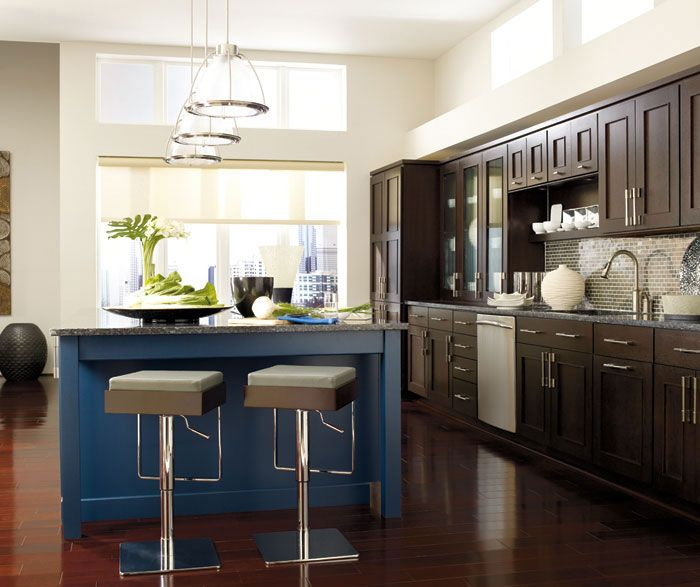 Dynasty Omega Kitchen Cabinets: Metro - Shown In Quartersawn Oak Truffle