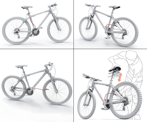 Inflator Bicycle Cycle Pump Integrated Design By Ling Xuan