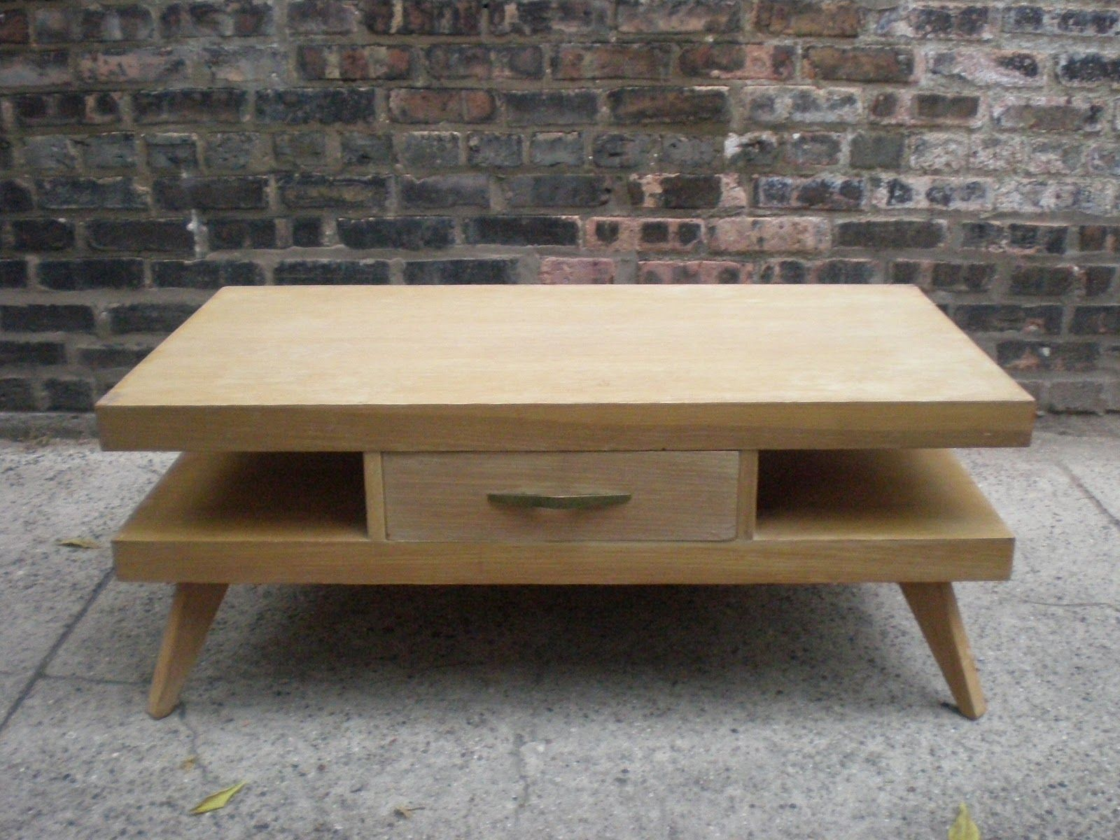 Mid Century Chicago Springfield Furniture Works Blonde Coffee Table Furniture Table Magazine Table