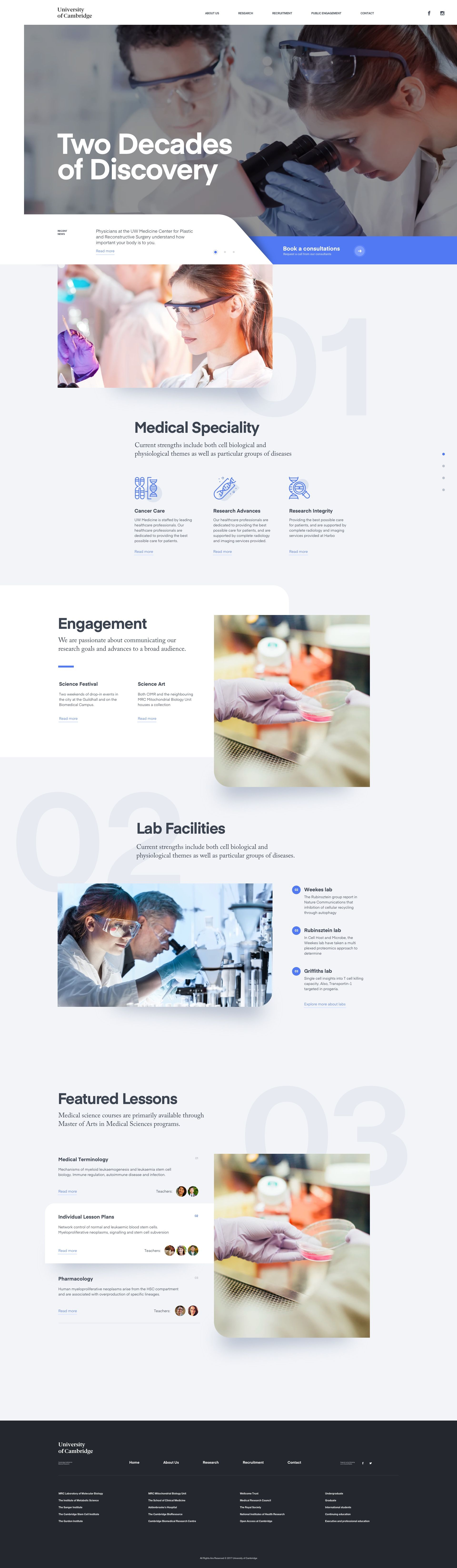 University Of Cambridge Full Screen Web App Design Web Design University Website