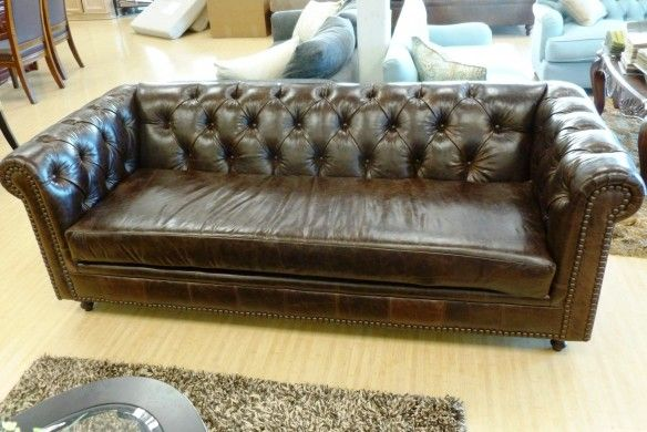 Lovely Sofa U Love | Custom Made In USA Furniture | In Oxblood Leather |