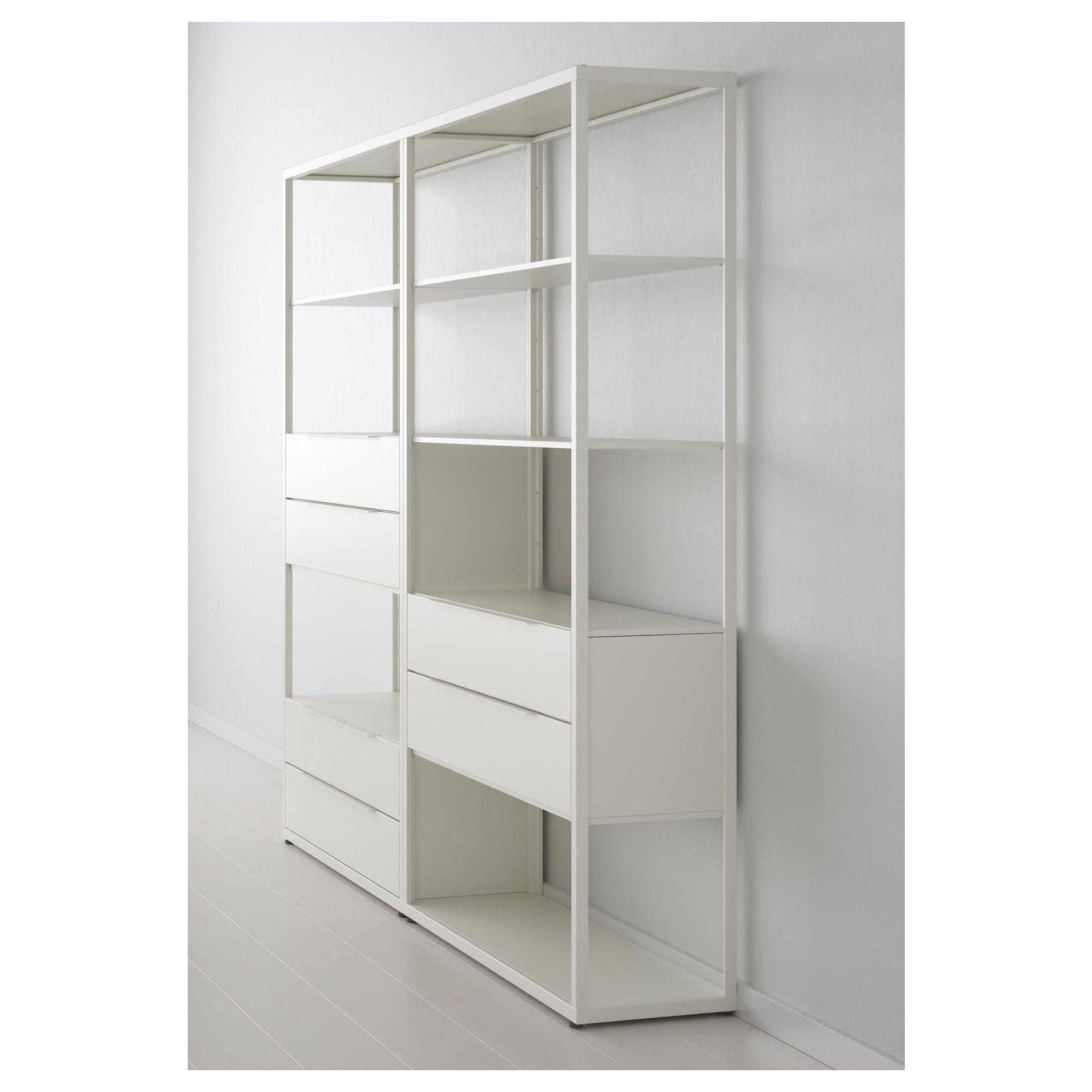 """FJ""""LKINGE Shelf unit with drawers white"""