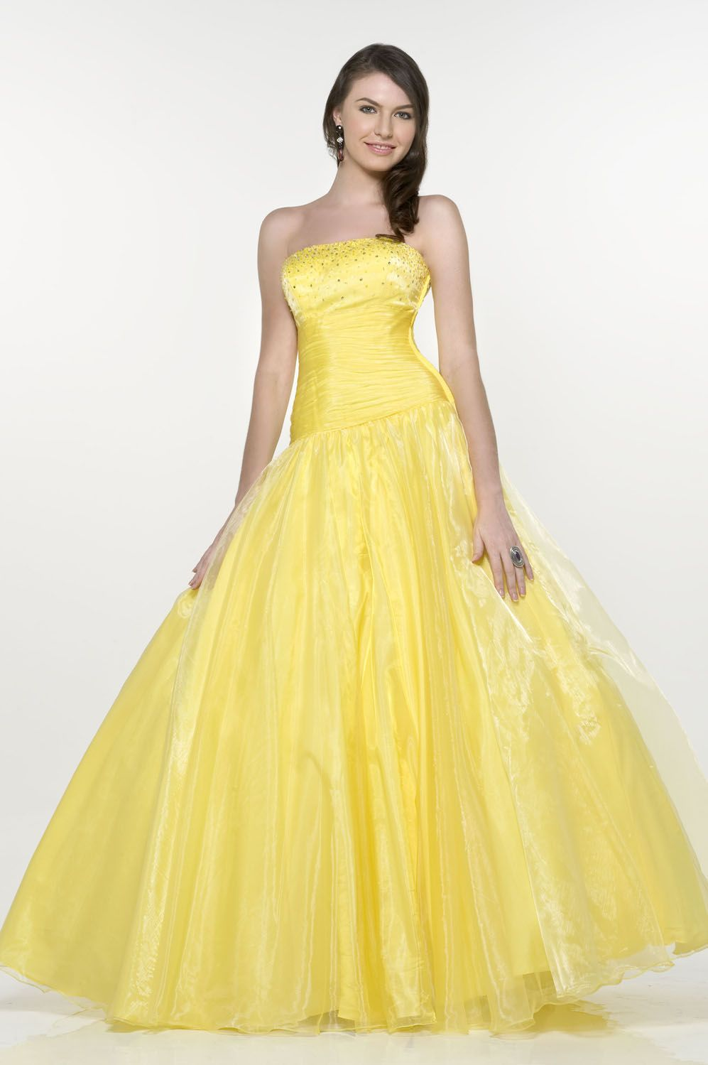 Bosom With Paillette Ball Gown Flat With Lace Up Floor Length ...