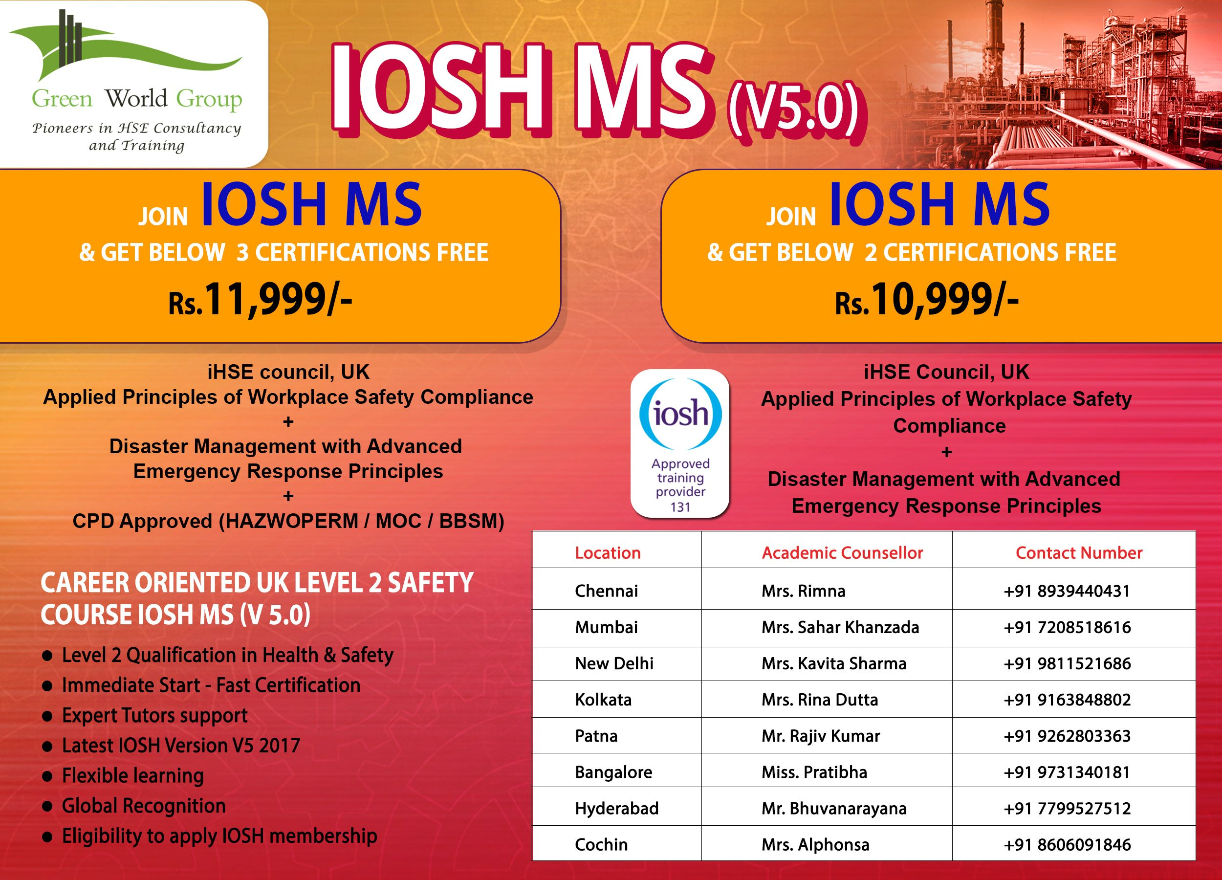 IOSH Course in Chennai Occupational health and safety