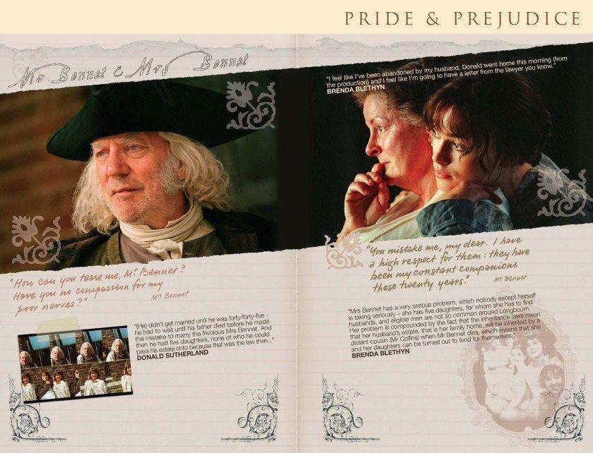 Pride and Prejudice 2005  - online companion - Lizzie Bennet - Elizabeth Bennet - Keira Knightley - Mr. Bennet - Mrs. Bennet - Donald Sutherland - Brenda Blethyn Page 15