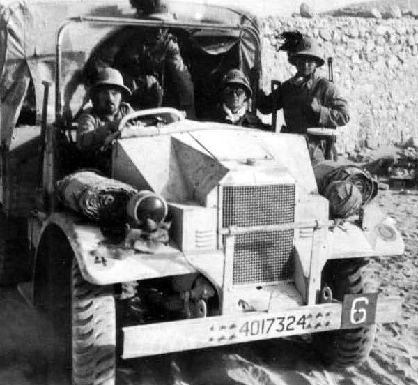 One of many British vehicles put into service with the Italian army.