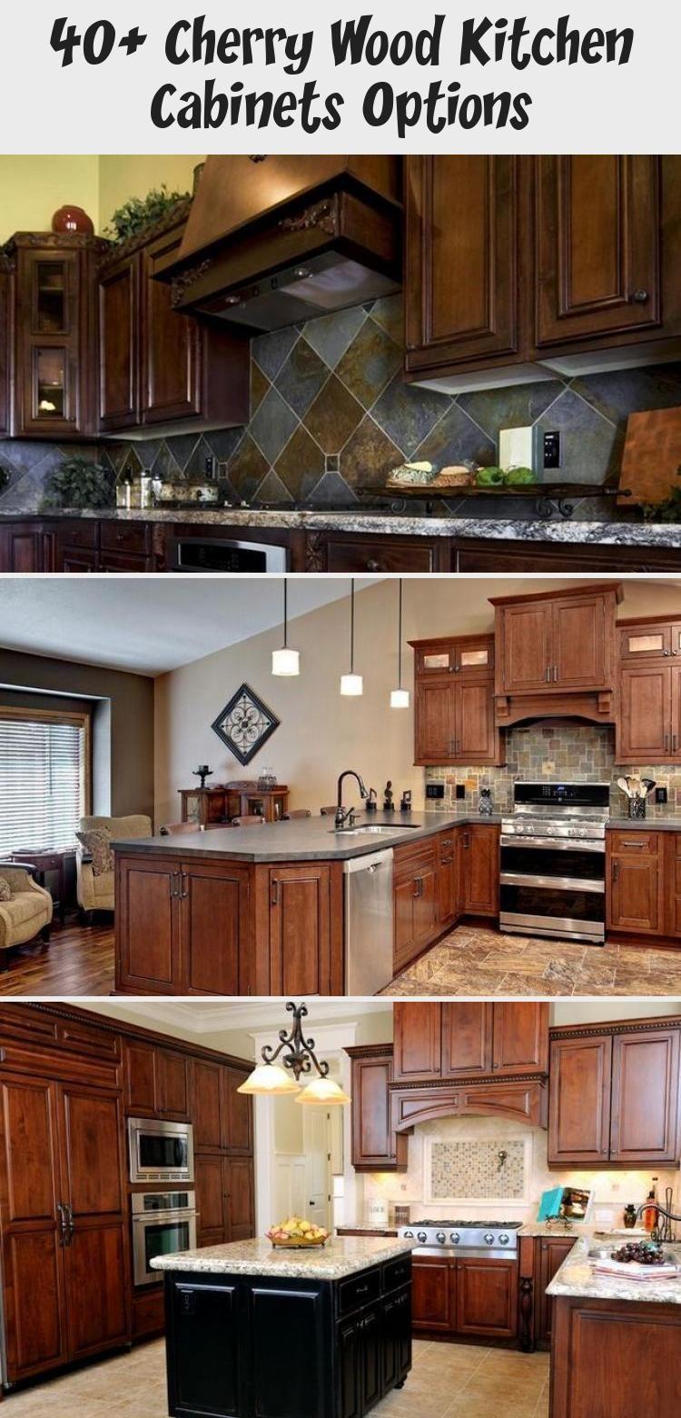40+ Cherry Wood Kitchen Cabinets Options   Cherry wood ...