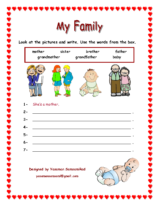 worksheets for kids Family Tree Worksheet for Kids – Family Worksheet