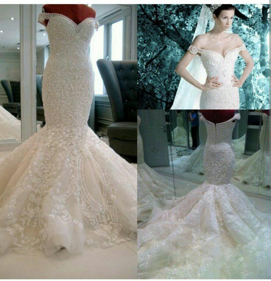 Aliexpress Buy WOW Hot Sale Ivory Mermaid Wedding Dresses Off The Shoulder Sweep