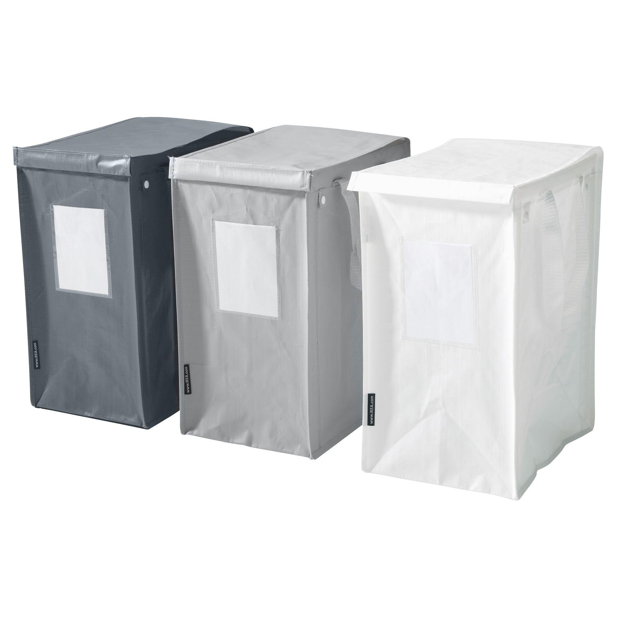 dimpa abfalltrennbeutel, weiß/dunkelgrau, hellgrau | recycling, Hause deko