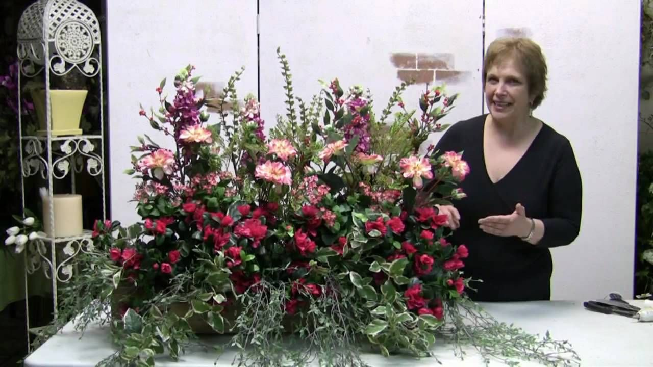 How To Make A Windowbox Arrangement With Silk Flowers Floral