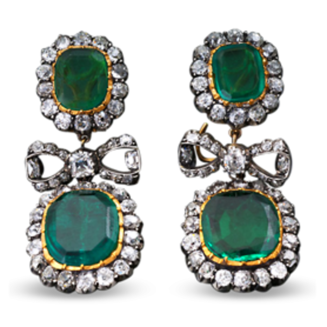 b3b5805a56b2 Four Colombian emeralds weighing a combined 13.00 carats dazzle with an  extraordinary depth of color in