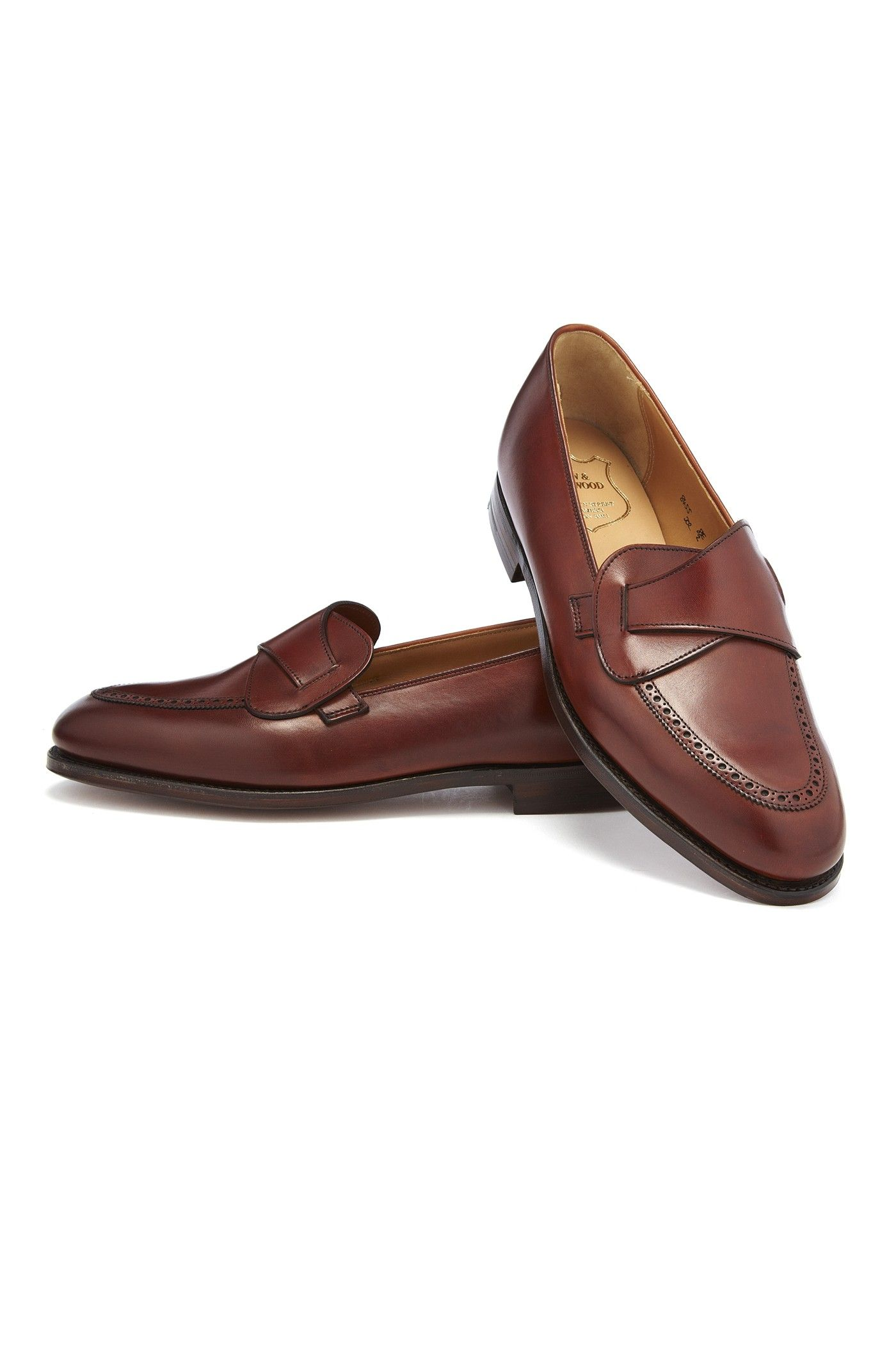 Chestnut Butterfly Calf Leather Loafers New & Lingwood wySkhtnZ