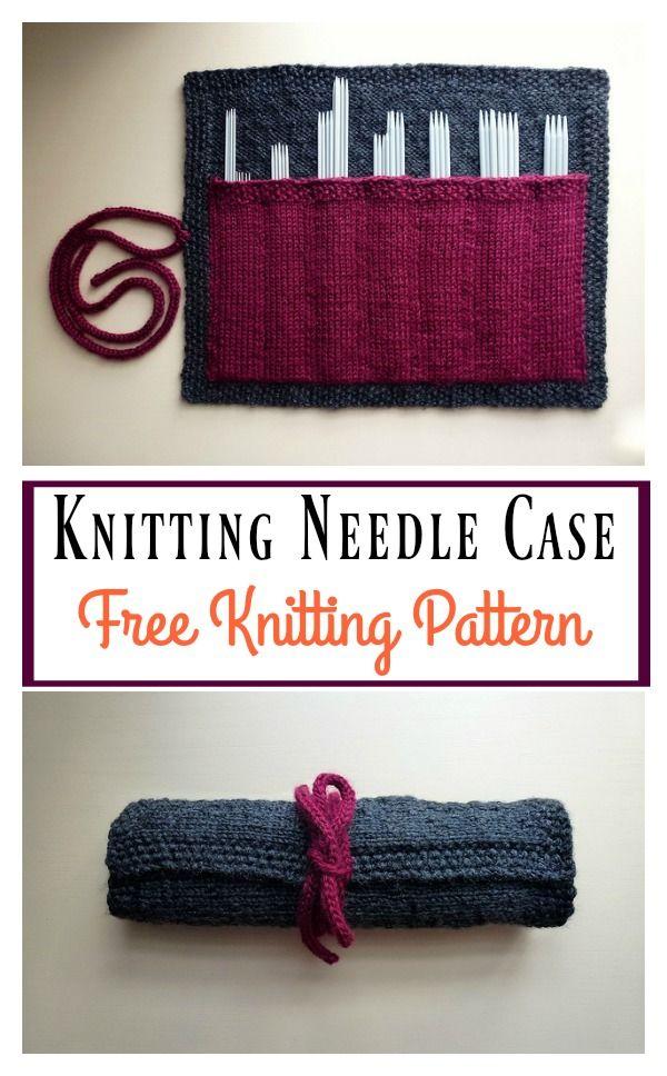 Knitting Needle Case Free Knitting Pattern | Needle case, Knitting ...